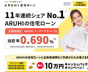 ARUHI 融資比率(借り入れ:9割超10割以下)